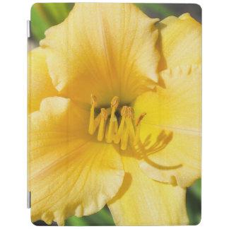 Protection iPad Couverture intelligente d'iPad jaune de lis