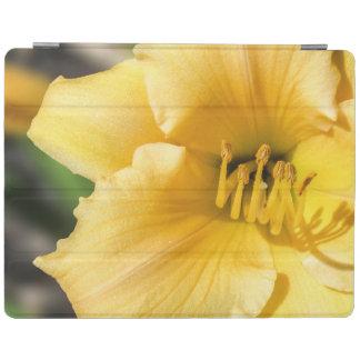 Protection iPad Couverture intelligente d'iPad jaune excentré de
