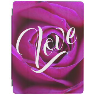 Protection iPad Couverture intelligente d'iPad rose d'amour