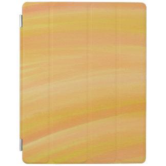 Protection iPad Couverture jaune chaude d'iPad d'aquarelle de