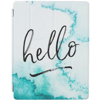 Protection iPad Couverture main-en lettres d'ipad de turquoise