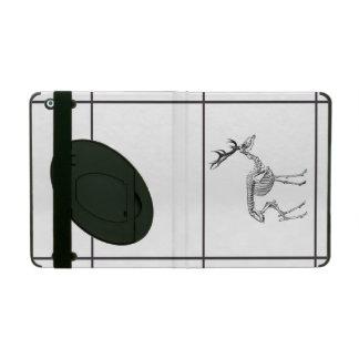 Protection iPad Dessin squelettique vintage éffrayant de renne