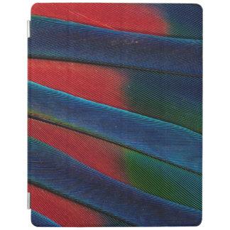 Protection iPad Détail Bleu-Dirigé de plume de perroquet