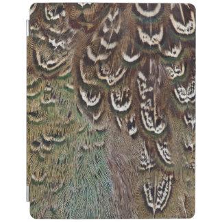 Protection iPad Détail de plume de faisan de Melanistic