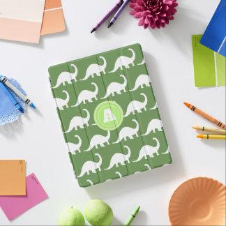 Protection iPad Dinosaures blancs à la mode de brontosaure