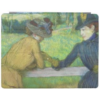 Protection iPad Edgar Degas | deux femmes se penchant sur une