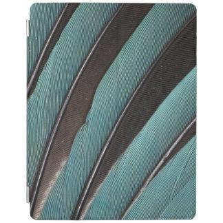 Protection iPad Éventée conception bleue de plume