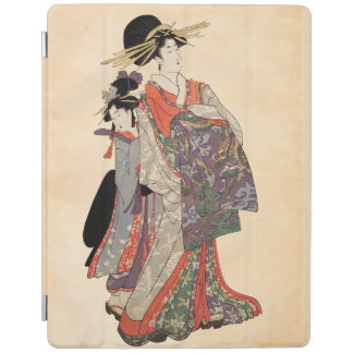 Protection iPad Femme dans le kimono coloré (copie vintage de