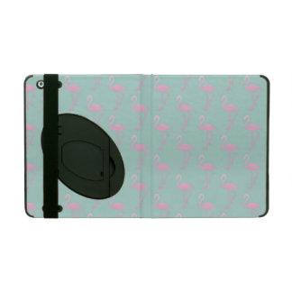 Protection iPad Flamant rose sur le motif sans couture turquoise