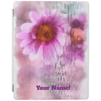 Protection iPad Fleurs pourpres