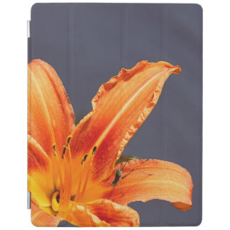Protection iPad Hémérocalle excentrée avec la couverture