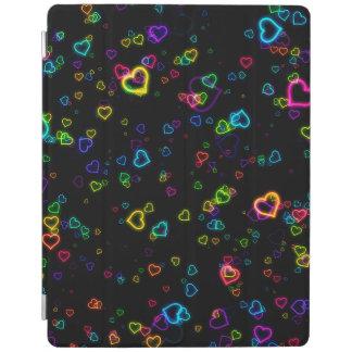 Protection iPad J'aime U - néon heureux