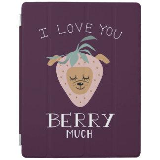 """Protection iPad """"Je t'aime BAIE beaucoup"""" de calembour de chien de"""