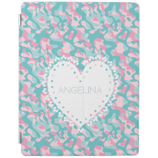Protection iPad Le camouflage Girly de ressort personnalisent