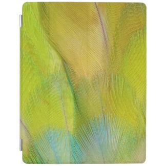 Protection iPad Le vert a dirigé le perroquet horizontal