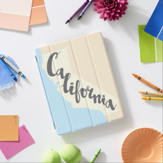 Protection iPad Lettrage de brosse de la Californie avec la carte