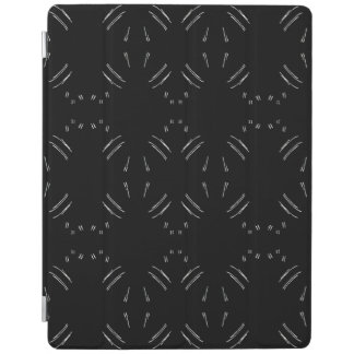 Protection iPad Lignes blanches couverture intelligente d'iPad
