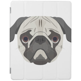 Protection iPad L'illustration poursuit le carlin de visage