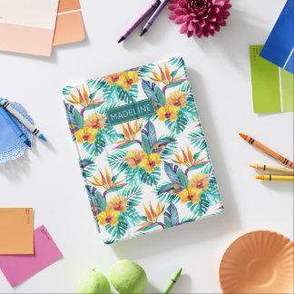 Protection iPad L'oiseau du paradis et le motif | d'orchidée