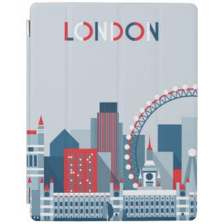 Protection iPad Londres, Angleterre horizon rouge, blanc et bleu