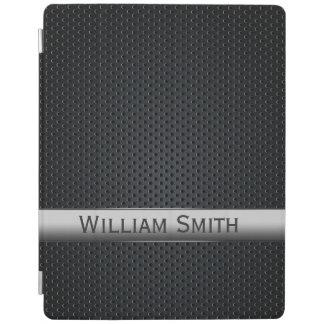 Protection iPad Métal foncé rayé en acier