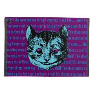 Protection iPad Mini 4 Alice vintage chez le chat de Cheshire du pays des