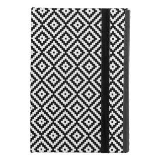 Protection iPad Mini 4 Bloc aztèque RPT Ptn de symbole noir et blanc II