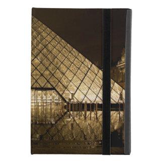 Protection iPad Mini 4 Cas d'iPad de pyramide de Louvre pro