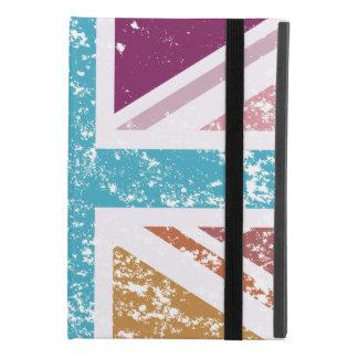 Protection iPad Mini 4 Drapeau affligé des syndicats multicolore