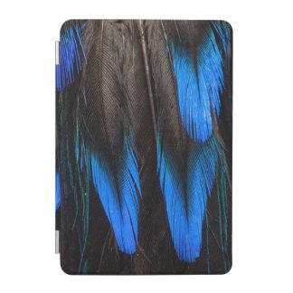 Protection iPad Mini Abrégé sur noir et bleu plume