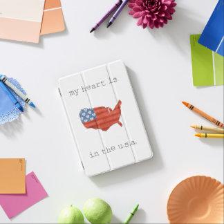 Protection iPad Mini | americana mon coeur est dans la carte des
