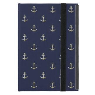 Protection iPad Mini Ancre nautique de bleu marine