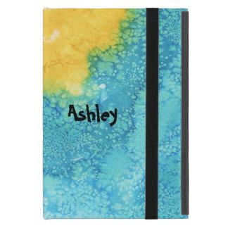Protection iPad Mini Aquarelle bleue/jaune