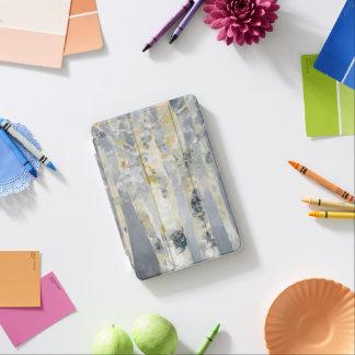 Protection iPad Mini Arbres de bouleau sur l'arrière - plan gris 6