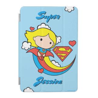 Protection iPad Mini Arc-en-ciel de vol de Chibi Supergirl