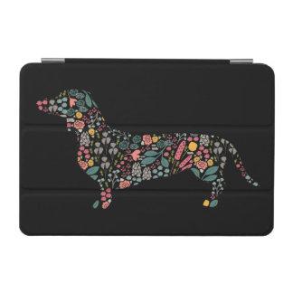 Protection iPad Mini Art floral d'aquarelle de motif de chien de