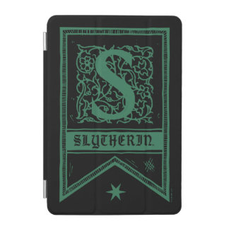 Protection iPad Mini Bannière de monogramme de Harry Potter | Slytherin