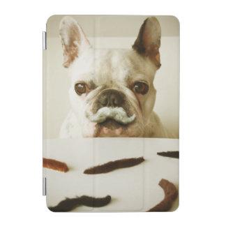 Protection iPad Mini Bouledogue français avec une moustache