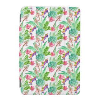 Protection iPad Mini Cactus lumineux d'aquarelle et motif succulent