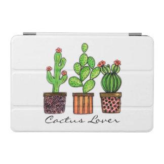 Protection iPad Mini Cactus mignon d'aquarelle dans des pots