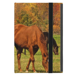 Protection iPad Mini Chevaux en automne