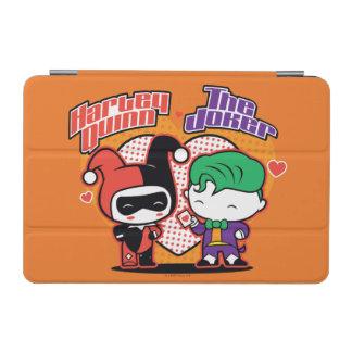 Protection iPad Mini Chibi Harley Quinn et coeurs de joker de Chibi