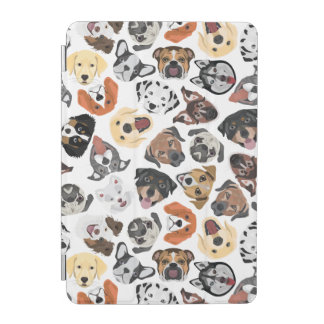 Protection iPad Mini Chiens domestiques doux de motif d'illustration