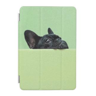 Protection iPad Mini Chiot de bouledogue français scrutant au-dessus du