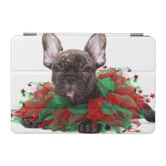 Protection iPad Mini Collier de port de Noël de bouledogue français