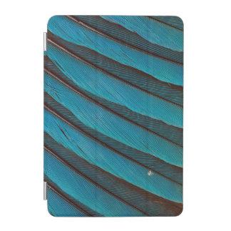 Protection iPad Mini Conception de plume de rouleau Bleu-Gonflée par