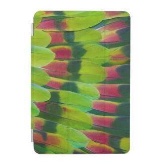 Protection iPad Mini Conception de plume de vert de perroquet d'Amazone