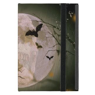 Protection iPad Mini Crâne déplaisant en pleine lune avec les oiseaux