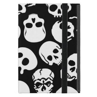 Protection iPad Mini Crânes dans le motif noir d'arrière - plan