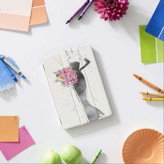 Protection iPad Mini Croquis floral sauvage de robe de mode d'Apple |
